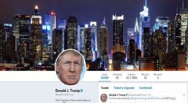 Donald Trump twitter ko: errore o scherzo dello staff della Casa Bianca?