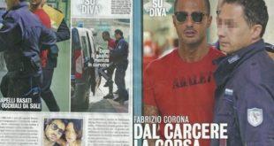 Fabrizio Corona malore in carcere, scortato d'urgenza in ospedale