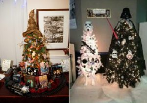Natale 2017, tendenze addobbi casa e albero natalizio Harry Potter Star Wars